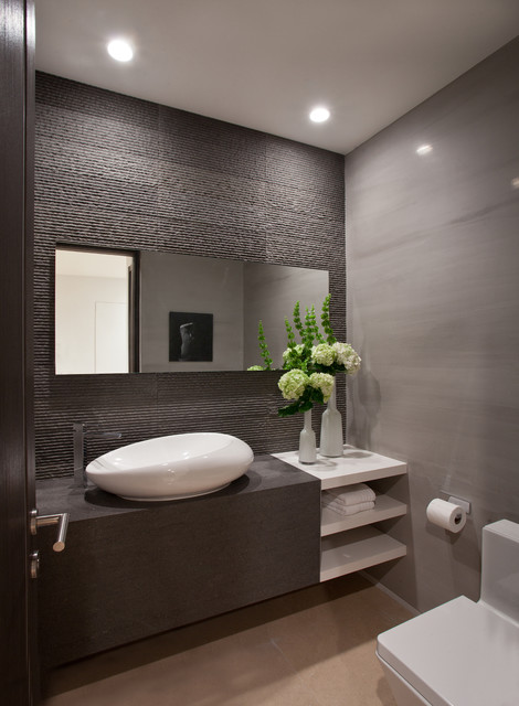 14 Functionally Decorated Contemporary Powder Rooms
