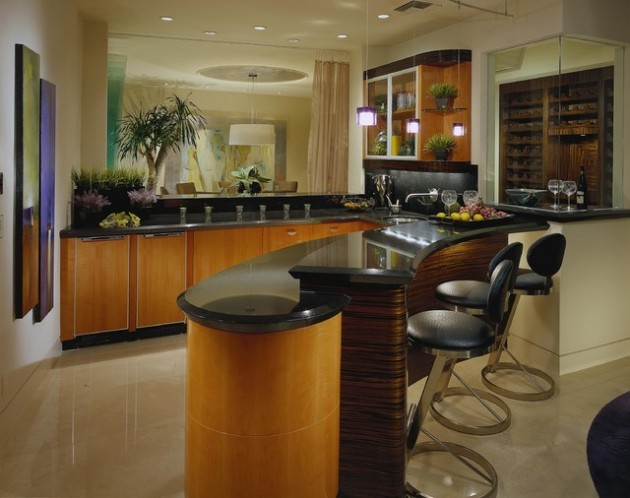 Elegant Home Bar Designs For Your House Party