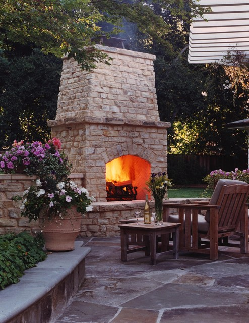16 Relaxing Outdoor Fireplace Designs For Your Garden on Fireplace In The Backyard id=87854