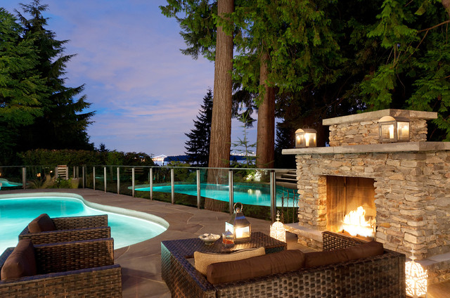 16 relaxing outdoor fireplace designs for your garden