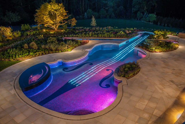 Swimming pool landscaping designs