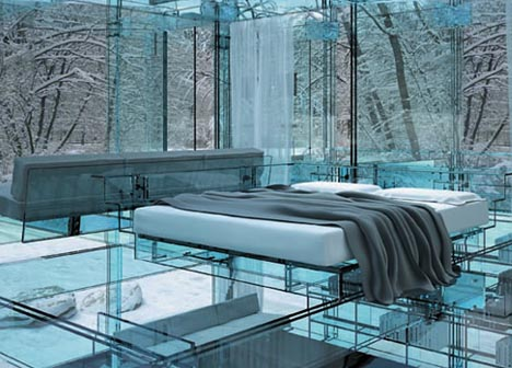 10 Unbelievable See through Glass House Designs