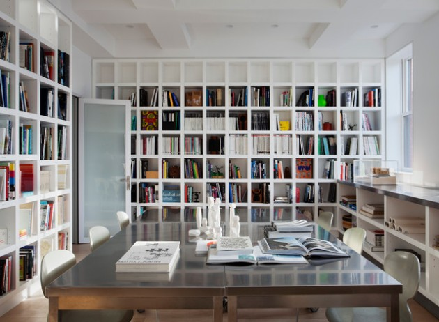 15 Fantastic Designs of Home Library for All Book Lovers
