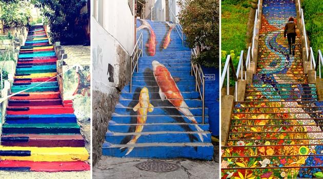 10 Most Brilliant Steps Art Around the World