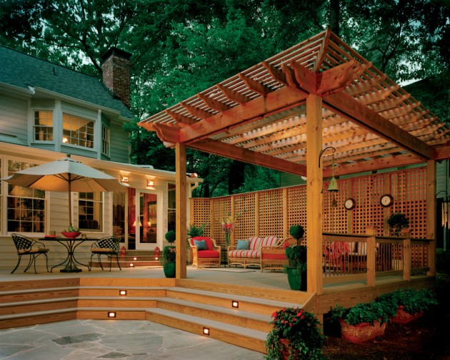 15 elegant outdoor deck designs for your backyard Small deck ideas