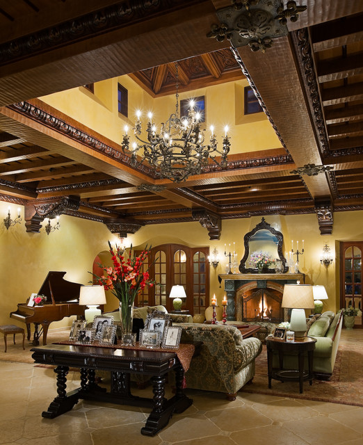15 Exceptionally Luxury Mediterranean Living Room Designs