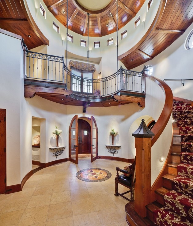15 Incredible Mediterranean Staircase Designs That Will: 15 Extremely Luxury Entry Hall Designs With Stairs