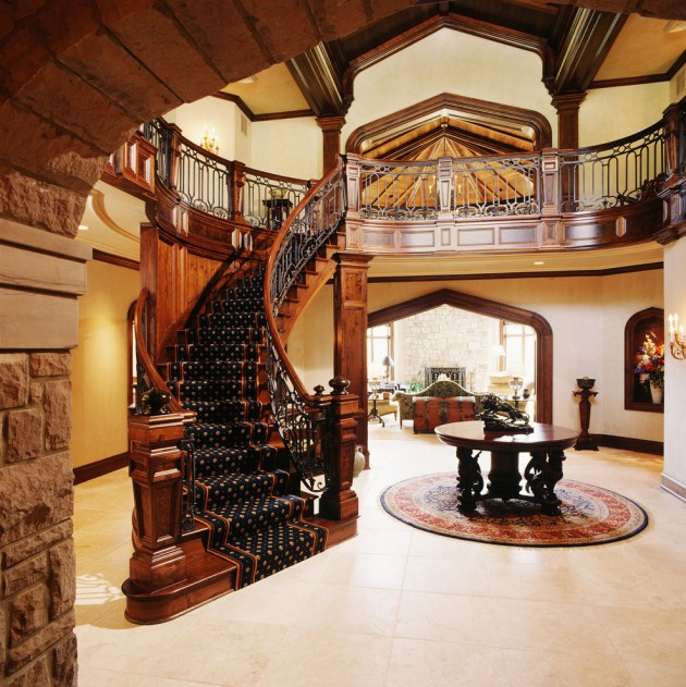 15 Residential Staircase Design Ideas: 15 Extremely Luxury Entry Hall Designs With Stairs
