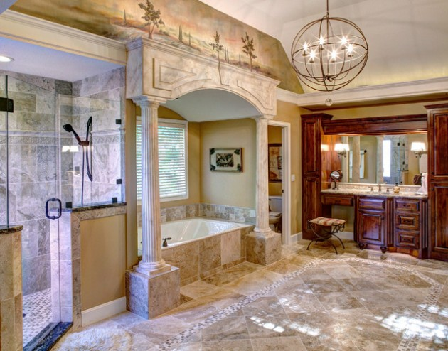 astonishing decorating your bathroom ideas | 15 Luxury Mediterranean Bathroom Designs