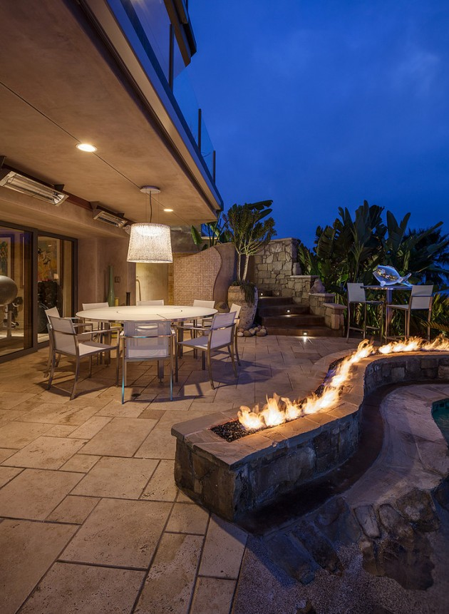 Outdoor Living Space With Fire Pit