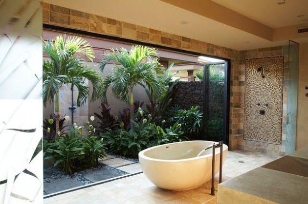 15 Relaxing Tropical Bathroom Designs For The Summer