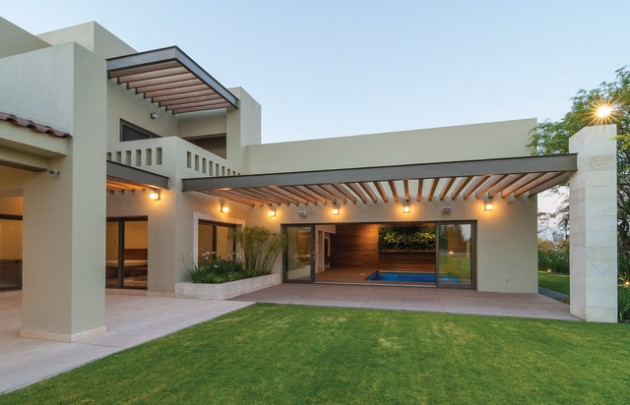 18 Awe Inspiring Modern Home Exterior Designs That Look Casual 1 630x405 - 46+ Entrance Terrace Design For Small House PNG