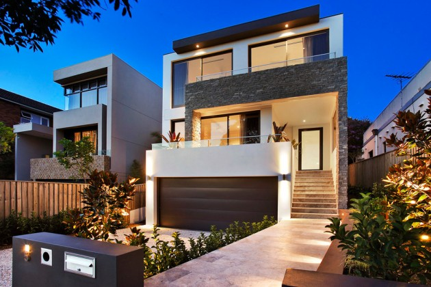 Stone And Render House Exterior