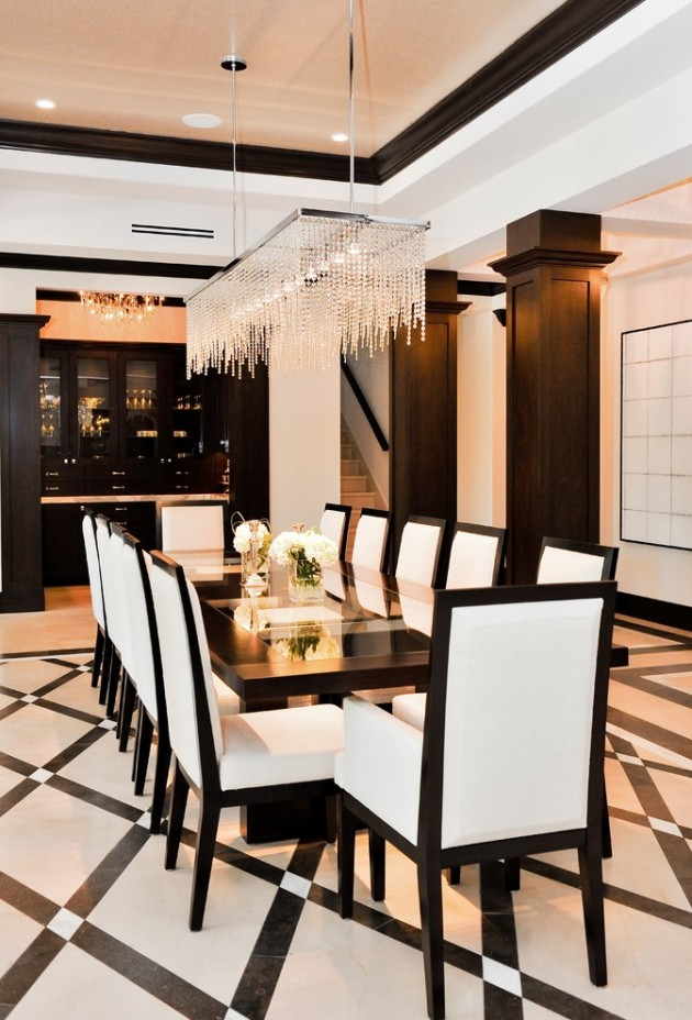 15 high end contemporary dining room designs for Modern dining suites