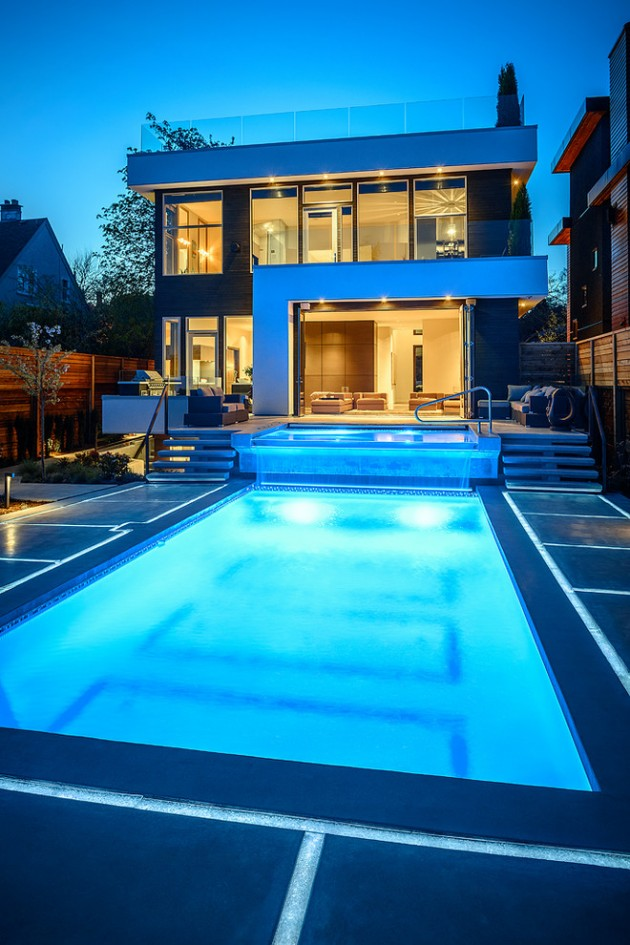 15 Tempting Contemporary Swimming Pool Designs 6 630x945 - 46+ Modern Small House Design With Pool  PNG
