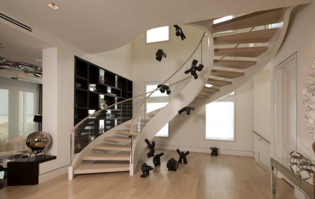 15 uplifting modern staircase designs for your new home for Gradas de concreto