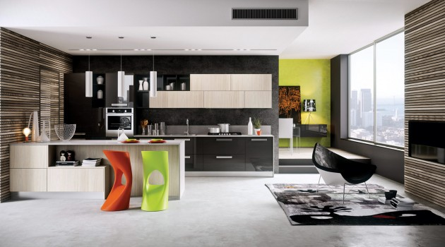 Think Outside The Box – Extravagant Colorful Kitchen Designs