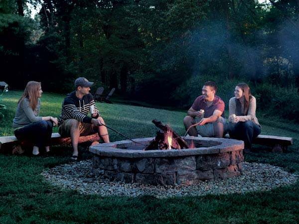 Camping In Your Backyard With Friends : Backyard Blaze How to Build Your Own Fire Pit