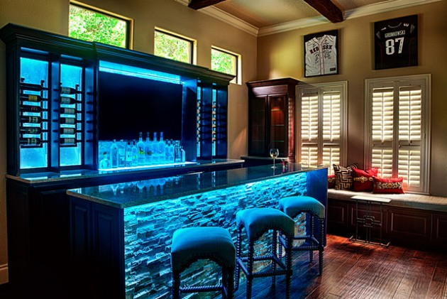 19 fancy home bar designs for all fans of the modern living for Bar moderne pour maison