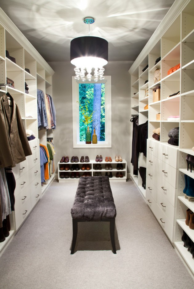 15 elegant luxury walk in closet ideas to store your clothes in that. Black Bedroom Furniture Sets. Home Design Ideas