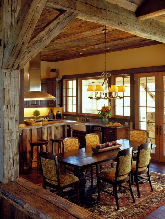 15 warm cozy rustic dining room designs for your cabin