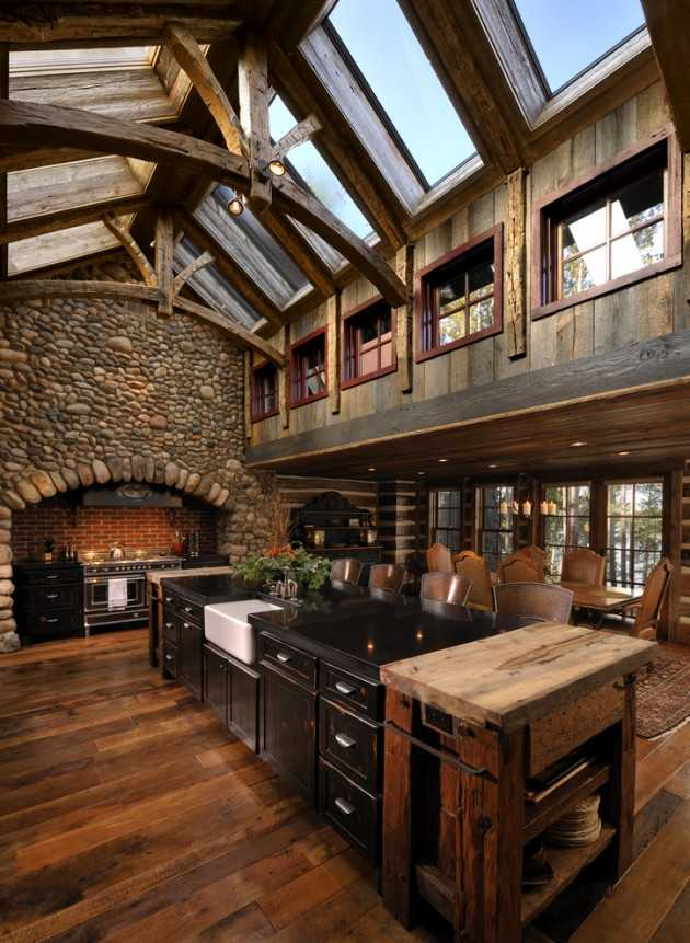 15 warm cozy rustic kitchen designs for your cabin Rustic kitchen designs