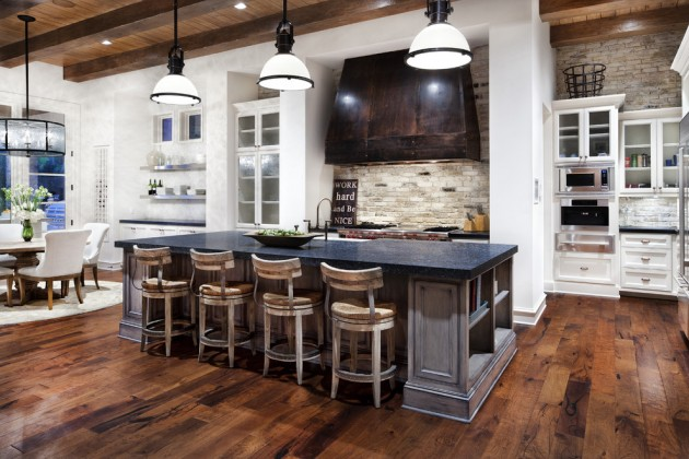 15 Warm & Cozy Rustic Kitchen Designs For Your Cabin on Rustic:fkvt0Ptafus= Farmhouse Kitchen Ideas  id=70227