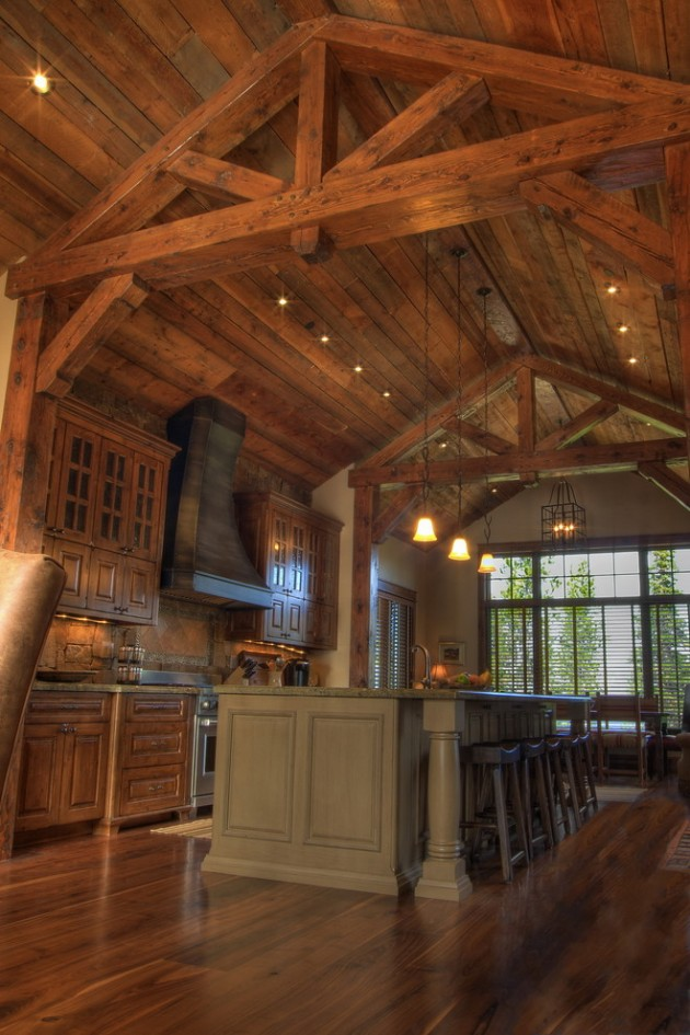 15 Warm & Cozy Rustic Kitchen Designs For Your Cabin