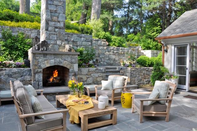 15 Wonderful Traditional Patio Setups For Your Backyard on Houzz Backyard Patios id=63842