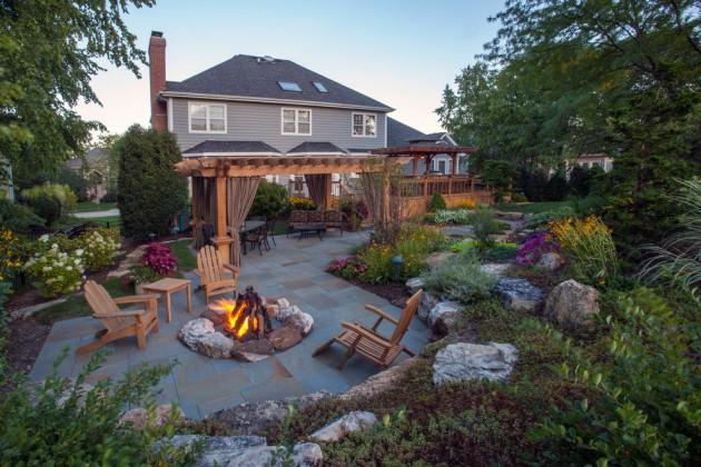 Flagstone Patio Ideas Small Backyards