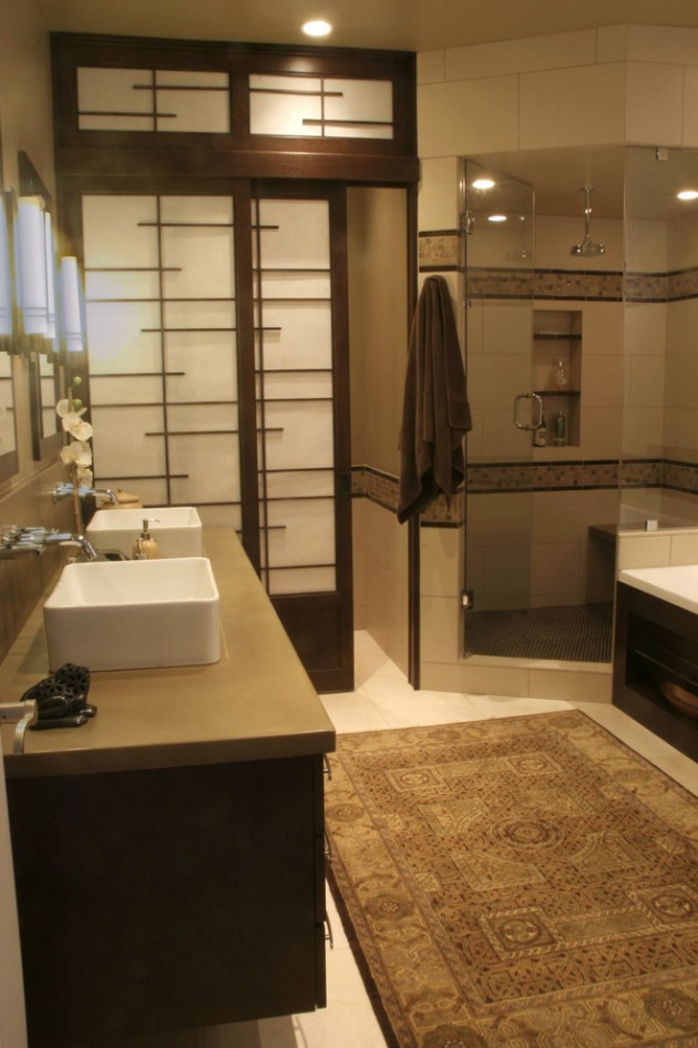 15 zen inspired asian bathroom designs for inspiration for Asian small bathroom design