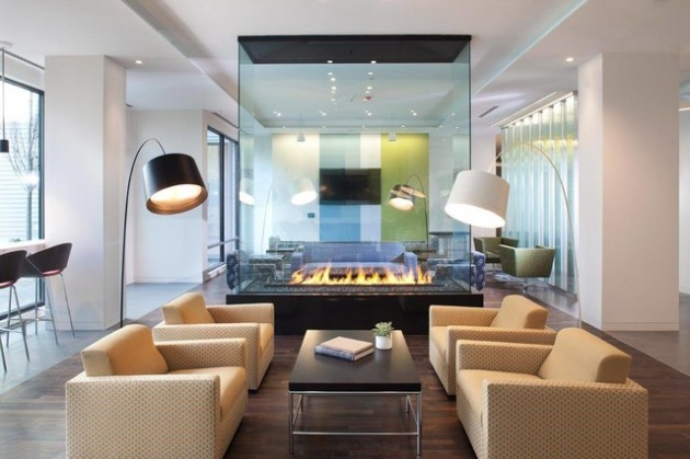 Add Warmth in Your Home- 14 Super Modern Fireplace Design
