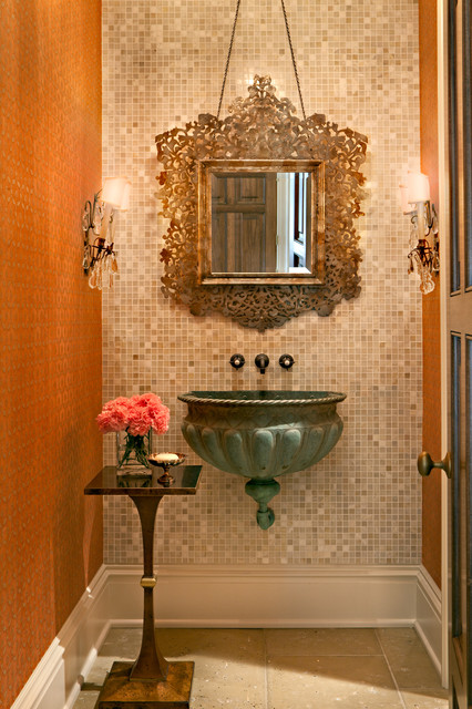 20 Inspirational Examples How To Decorate Your Eclectic Powder Room