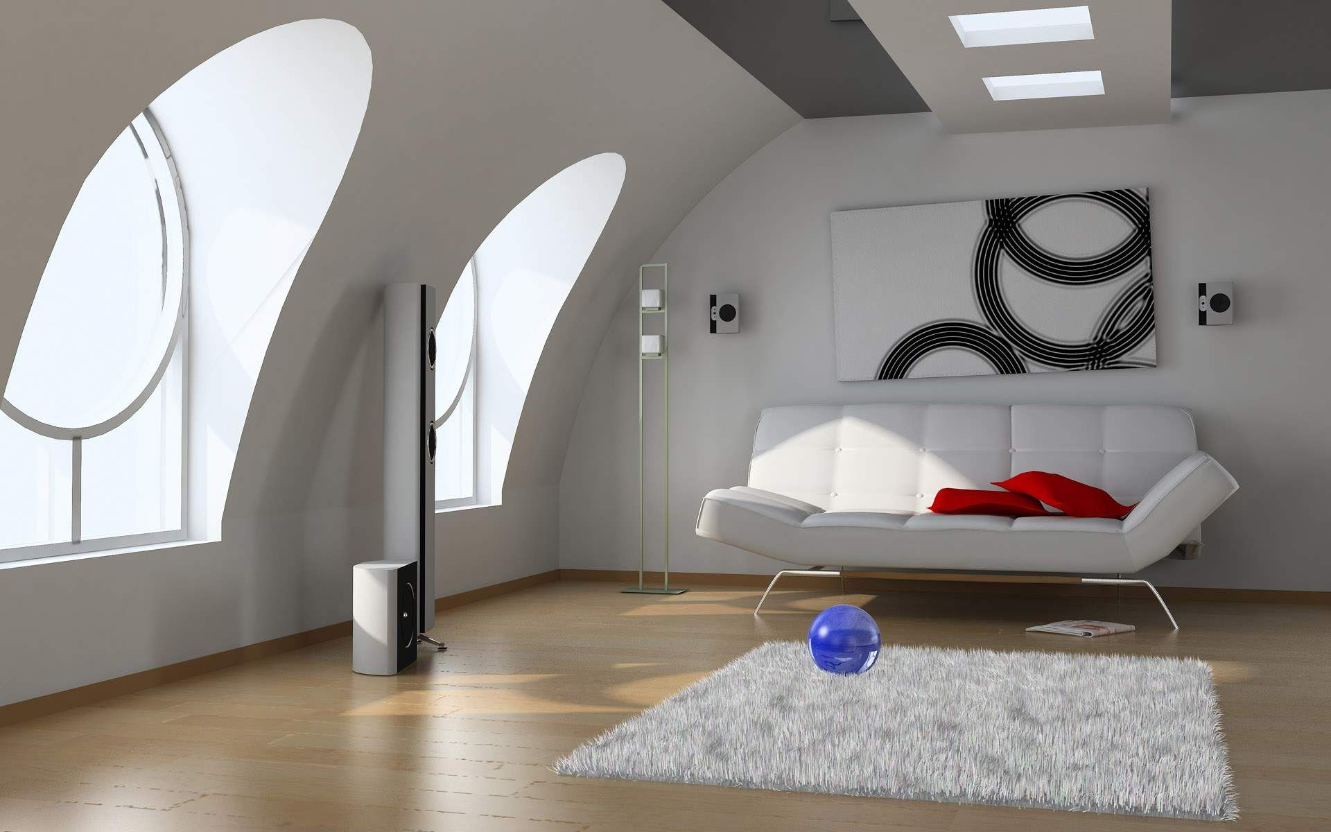 15 functional solutions for your attic living room for Living room roof designs