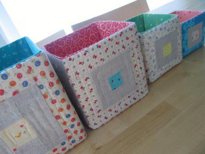 Как сделать коробку из ткани для хранения вещей своими руками