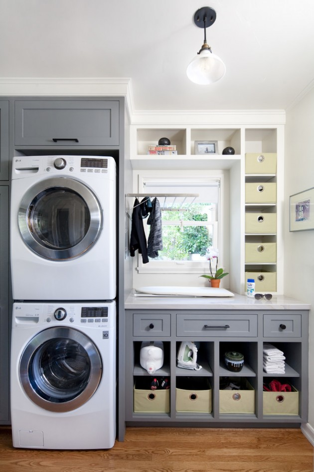 15 elegant laundry room designs to get ideas from. Black Bedroom Furniture Sets. Home Design Ideas