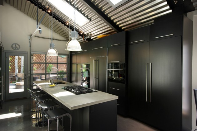 15 Extraordinary Modern Industrial Kitchen Interior Designs