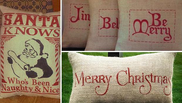 15 Festive Handmade Christmas Pillows For a Perfect Christmas Gift!