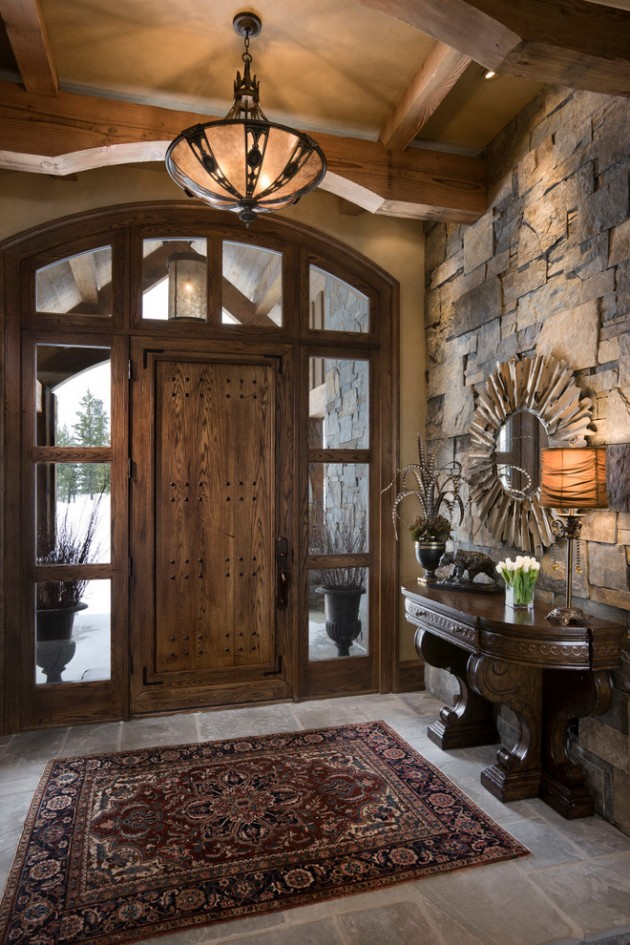 Foyer Door Frame : Inviting rustic entry designs for this winter