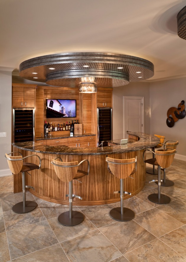 Kitchen Room Interior Design: 15 Majestic Contemporary Home Bar Designs For Inspiration