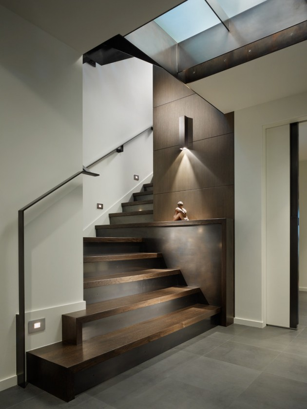 Lighting Basement Washroom Stairs: 15 Uplifting Contemporary Staircase Designs For Your Idea Book