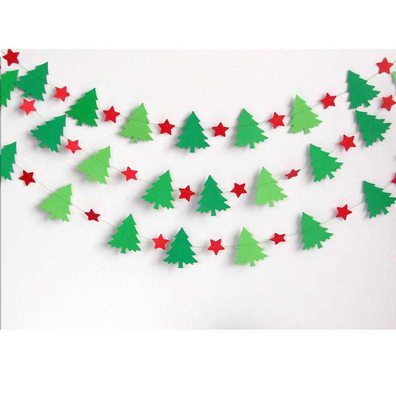 Бумажные гирлянды на новый год схемы