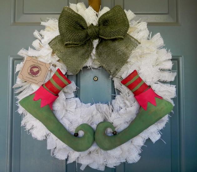 17 Whimsical Handmade Christmas Wreath Designs For Inspiration
