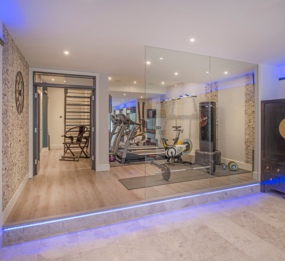 designing a home gym modern home gym interior design idea yoga modern home gym design - Designing A Home