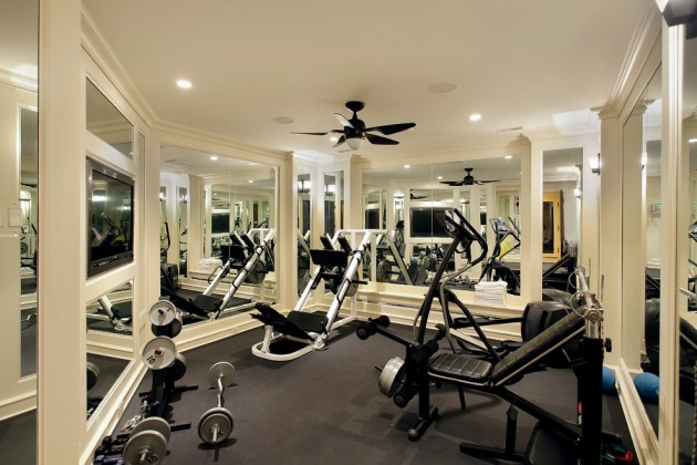 Energizing private luxury gym designs for your home