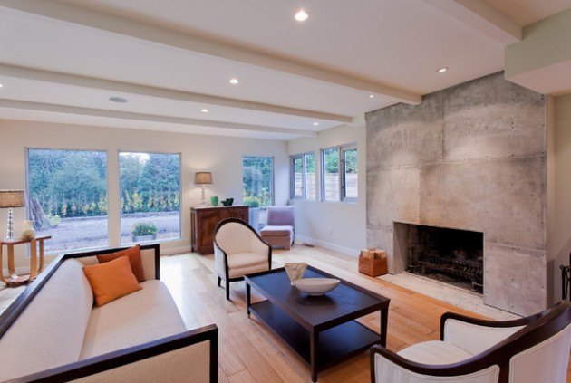 Concrete in Your Living Room- 14 Stunning Ideas