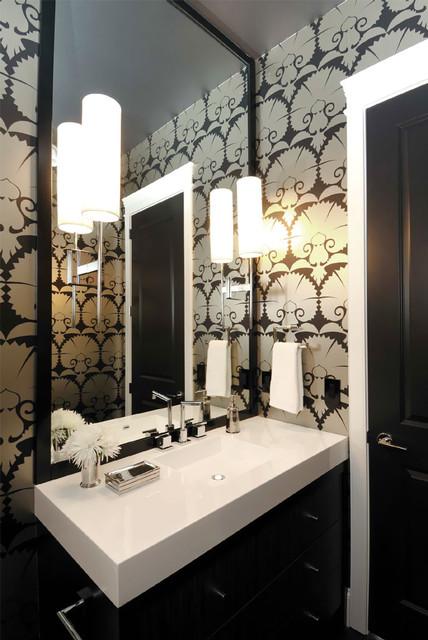 Modern Art Deco Bathroom Interior Design Stock Illustration