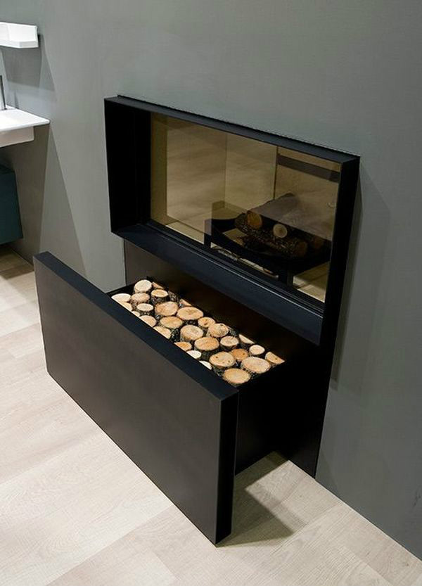 16 Creative Firewood Storage Ideas for Modern Schmeck of The Home