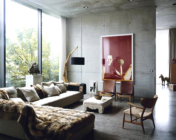 Concrete in Your Living Room  14 Stunning Ideas