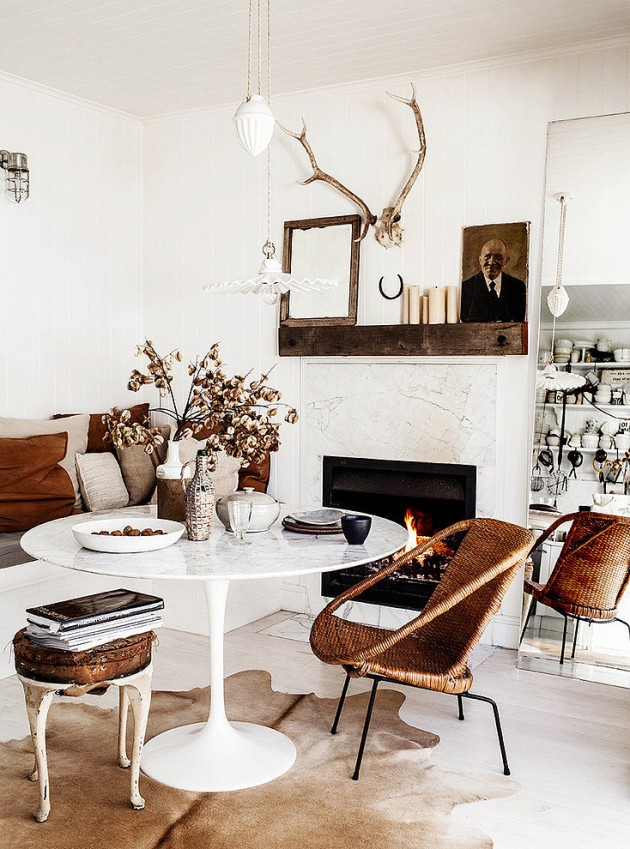 12 Excellent Examples How To Decorate Warm and Pleasant Living Room This Winter